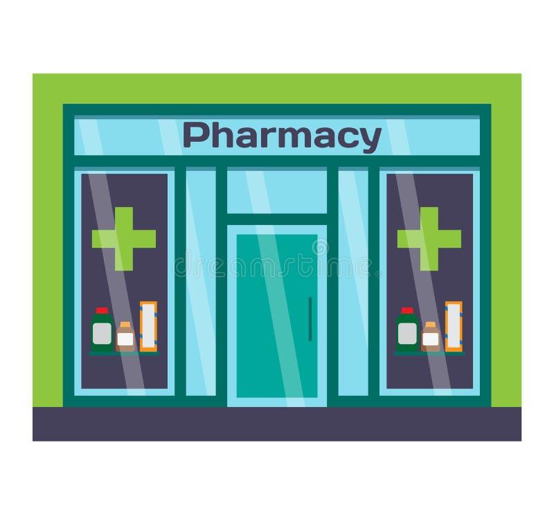 商店门面传染媒介例证 向量例证