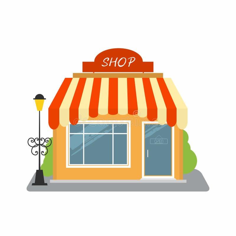 商店,街道企业创办门面 向量例证