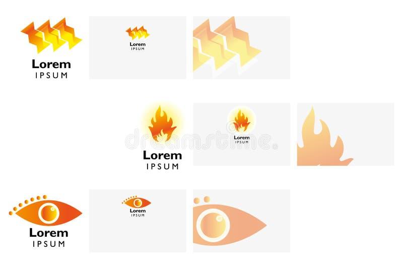 商标与名片模板的设计元素 库存例证
