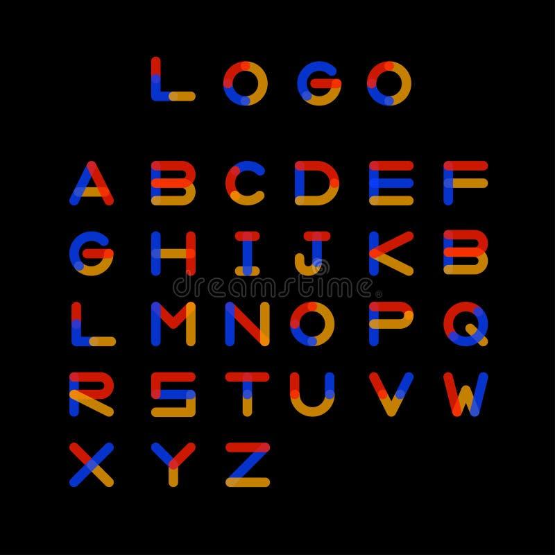 商标信件字母表 向量例证