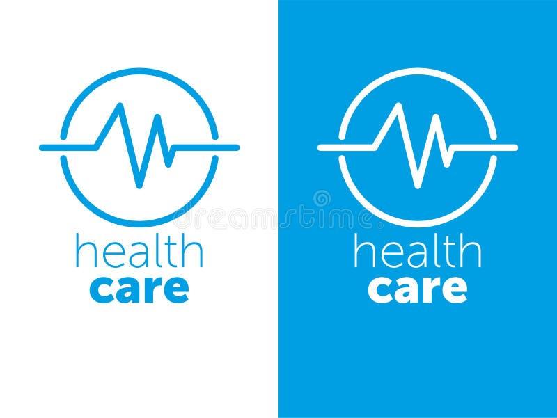 商标医学 医疗中心的商标医疗保健 r 蓝色象 库存例证
