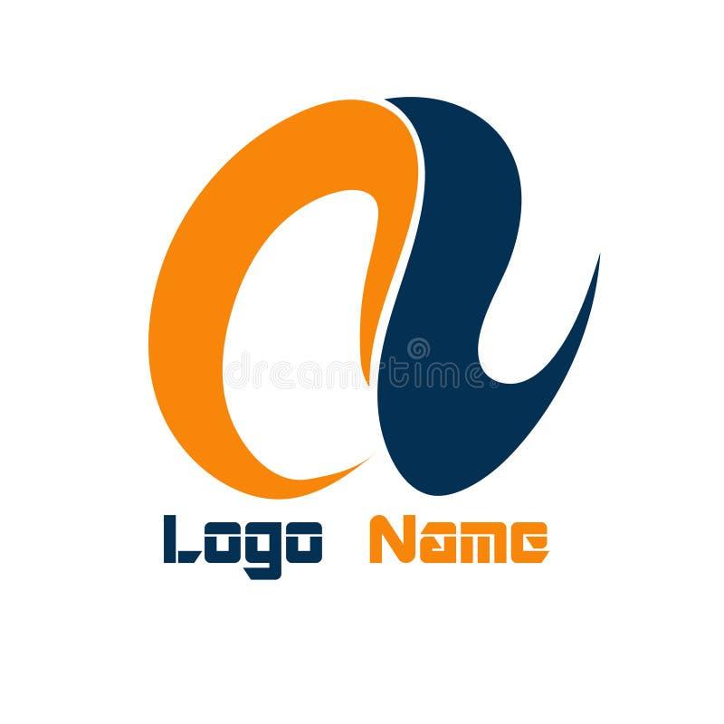 商标名字信件一个平的设计 向量例证