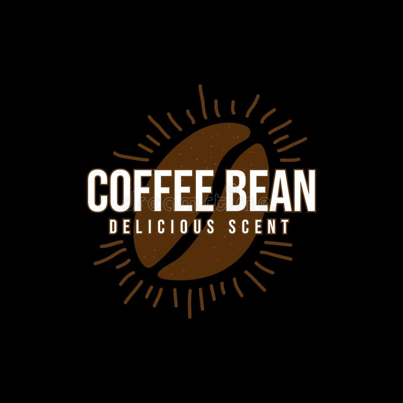 商标咖啡豆 库存图片