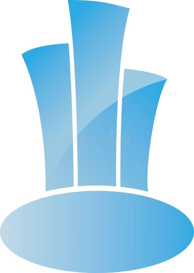 Download 商标大厦 向量例证. 插画 包括有 蓝色, 街市, 工厂, 商业, 没人, 绿色, 查出, 房子, 颜色 - 30327582