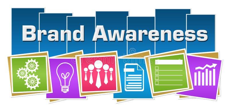 商标意识企业标志五颜六色的正方形条纹 库存例证