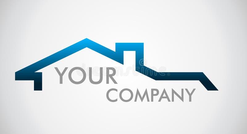 商标房子 公司商标的商标 皇族释放例证
