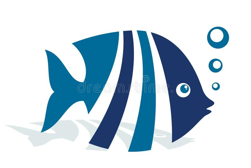 商标抽象鱼 库存例证