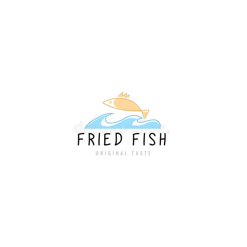 商标油煎了鱼餐馆 皇族释放例证