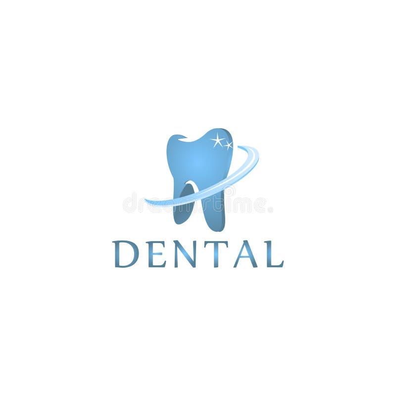 商标牙齿保护诊所,孩子的牙科 牙抽象象 皇族释放例证