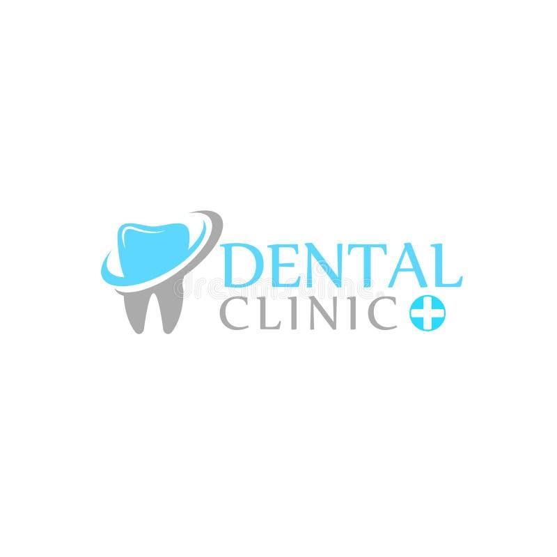 商标牙齿保护诊所,孩子的牙科 牙抽象象 库存例证