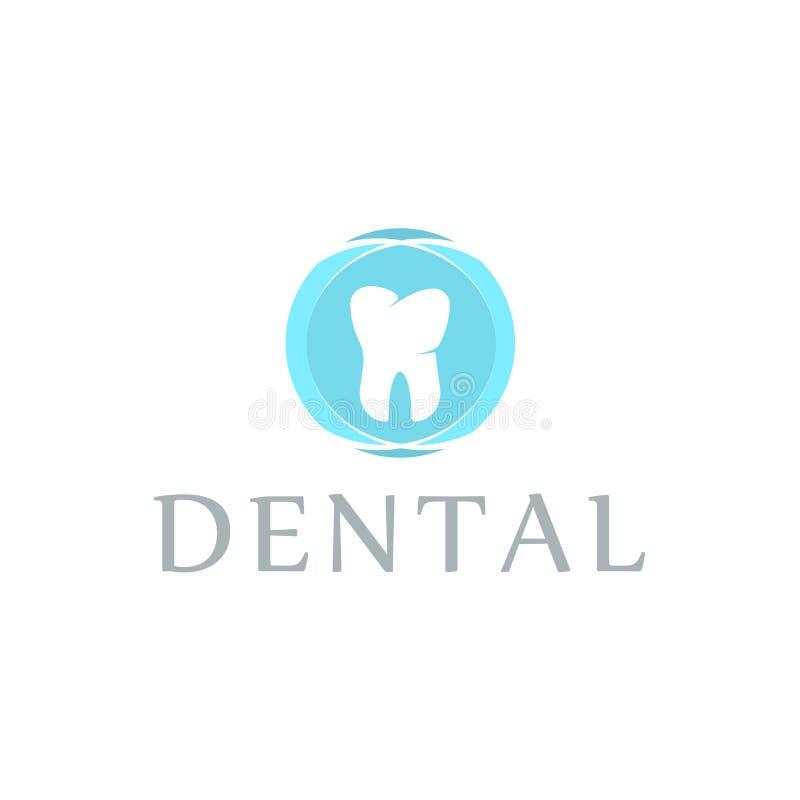 商标牙齿保护诊所,孩子的牙科 牙抽象象 向量例证