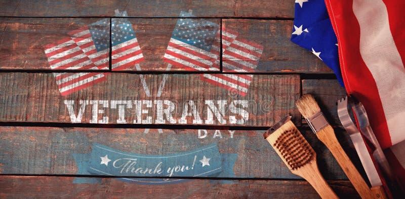 商标的综合图象为退伍军人日在美国 免版税库存照片