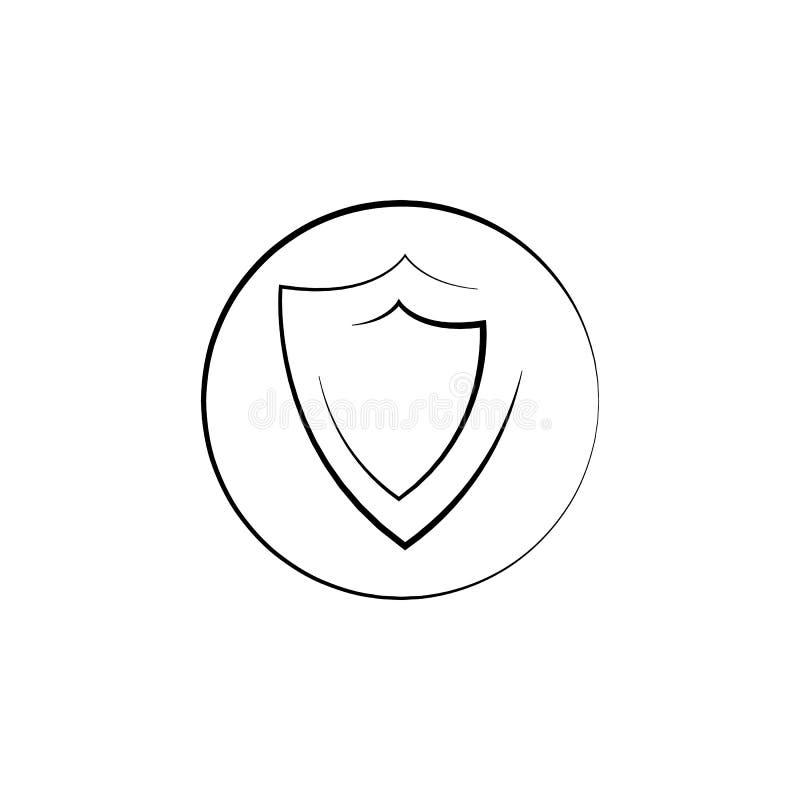 商标盾象象 网络安全象的元素 优质质量图形设计 标志,概述标志汇集象为 向量例证
