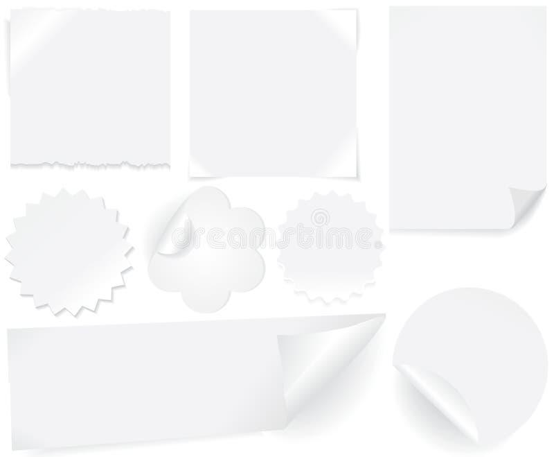 商标纸白色 向量例证