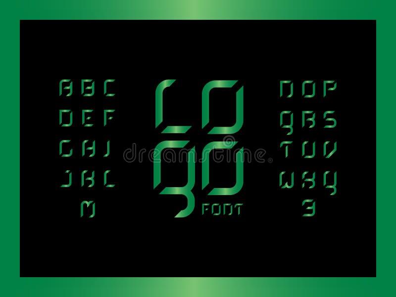 商标绿宝石字母表 传染媒介信件 库存例证