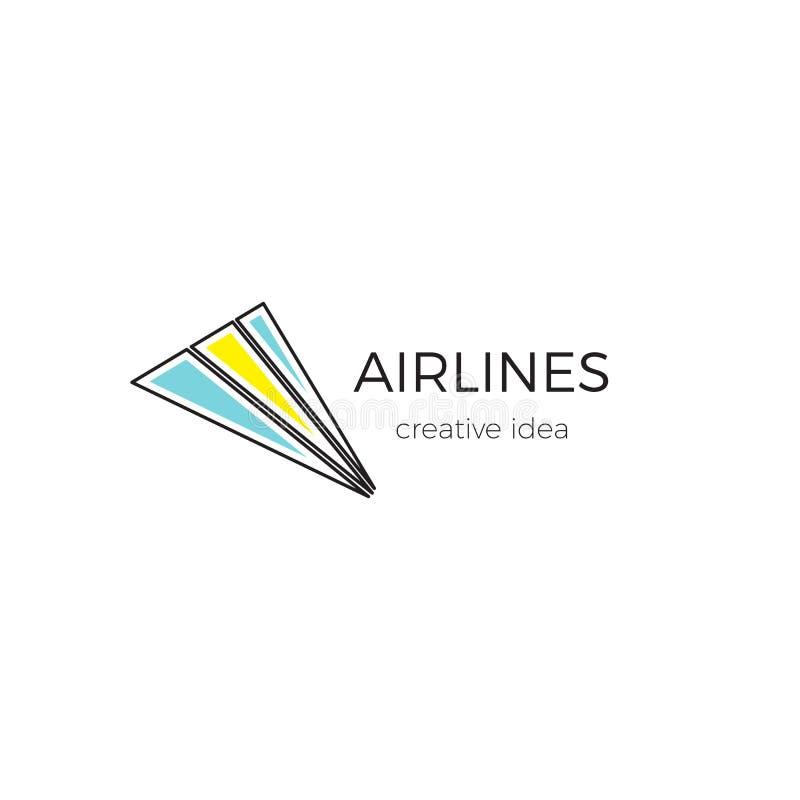 商标航空公司、机场或者旅行社的模板例证 库存例证
