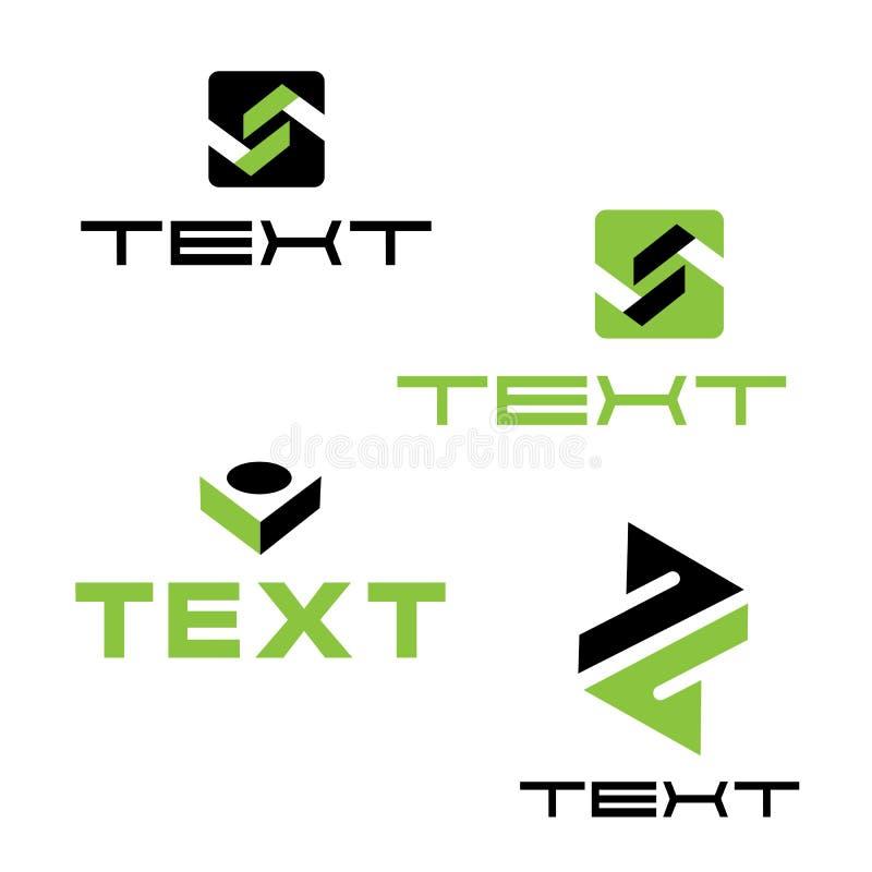 商标设置与信件A和B 免版税库存照片