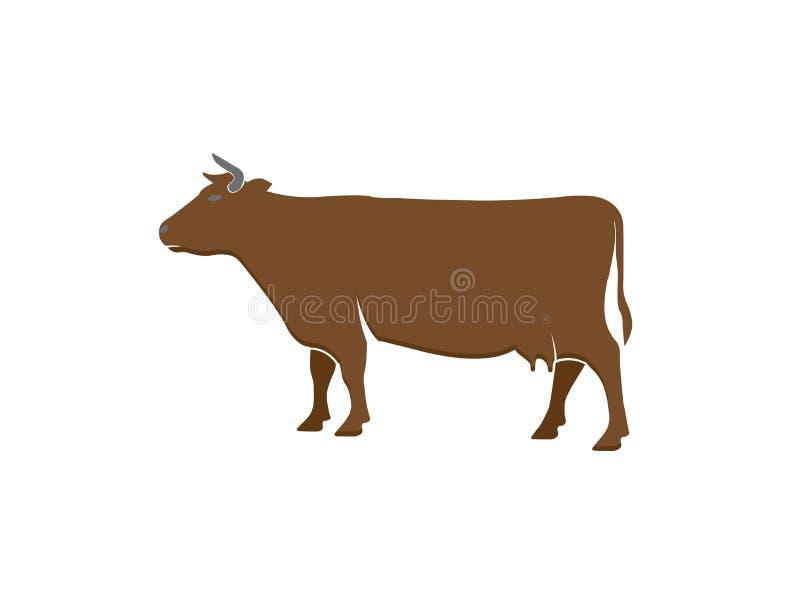 商标设计例证传染媒介的母牛牛奶店 向量例证