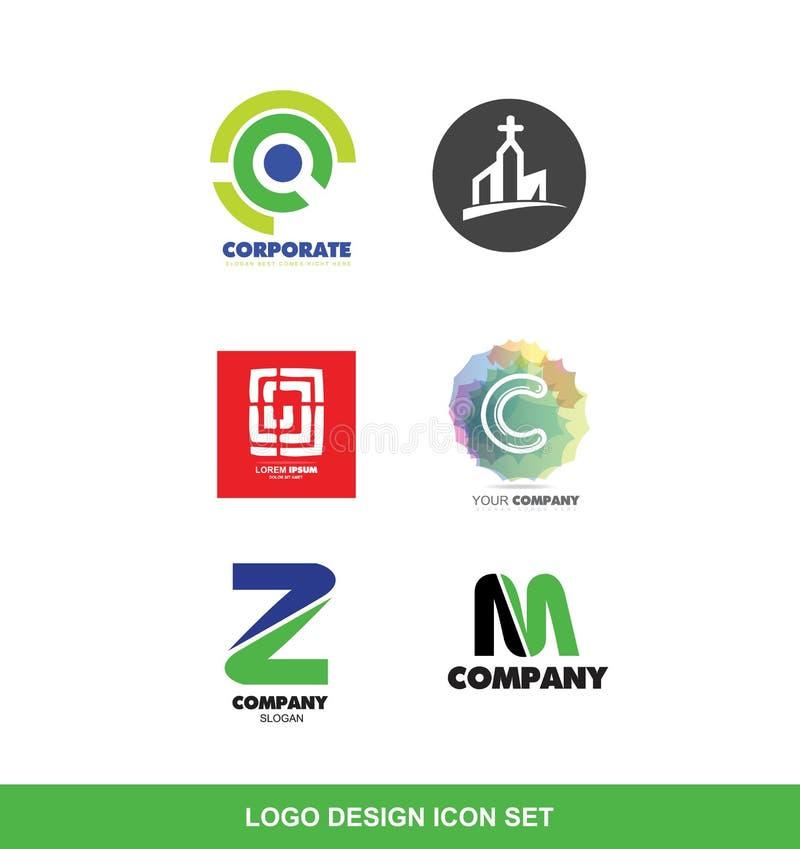 商标设计元素象集合 库存例证