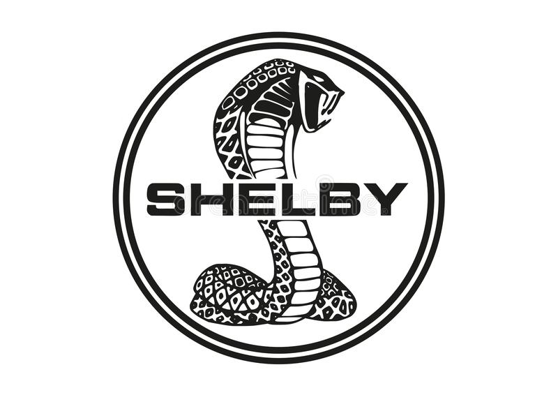 商标谢尔比眼镜蛇 向量例证