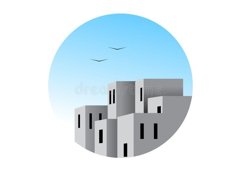 商标建筑 向量例证
