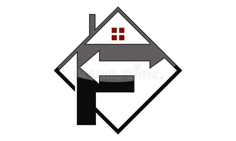 商标F箭头物产 向量例证