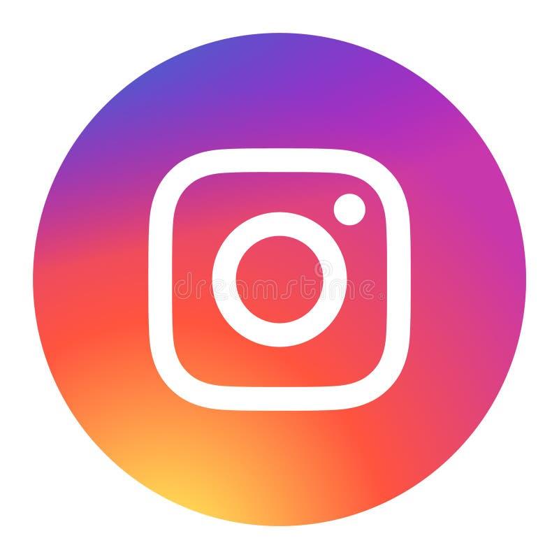 商标instagram传染媒介颜色 皇族释放例证