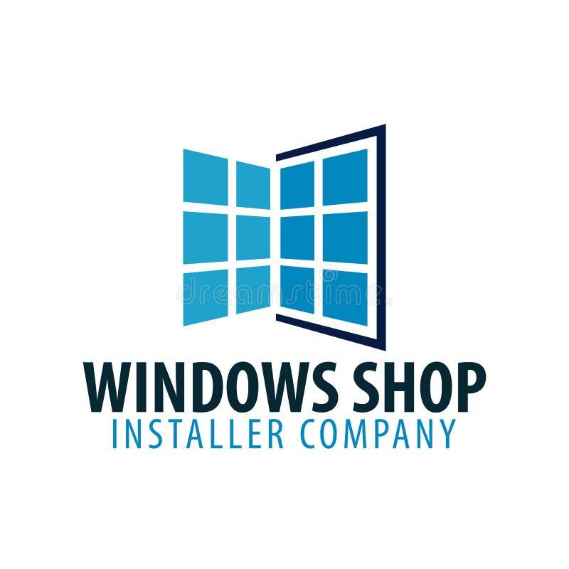 商标Windows商店 安置者公司 也corel凹道例证向量 皇族释放例证