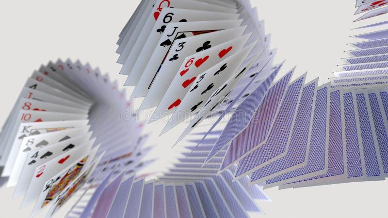 啤牌卡片落 向量例证