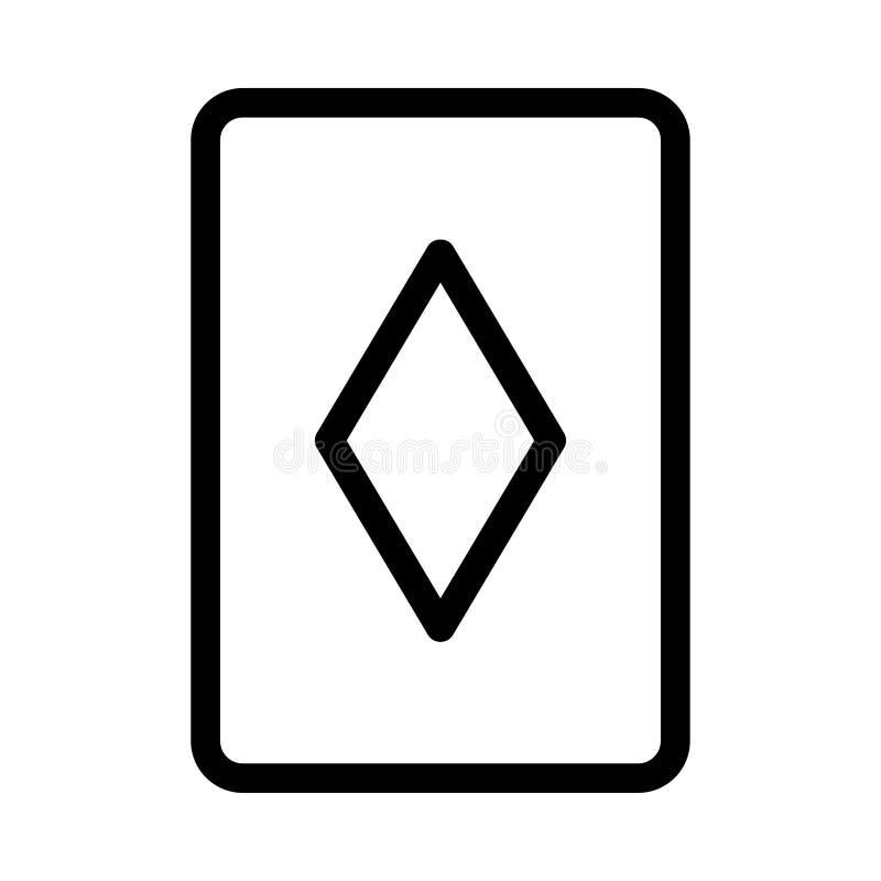 啤牌卡片象 库存例证
