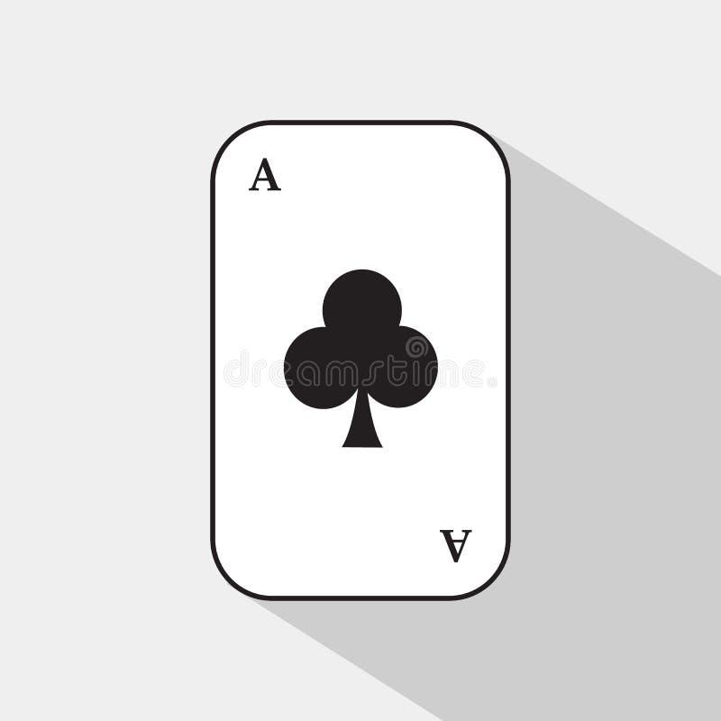 啤牌卡片 一点俱乐部 容易地是白色的背景可分开的 皇族释放例证
