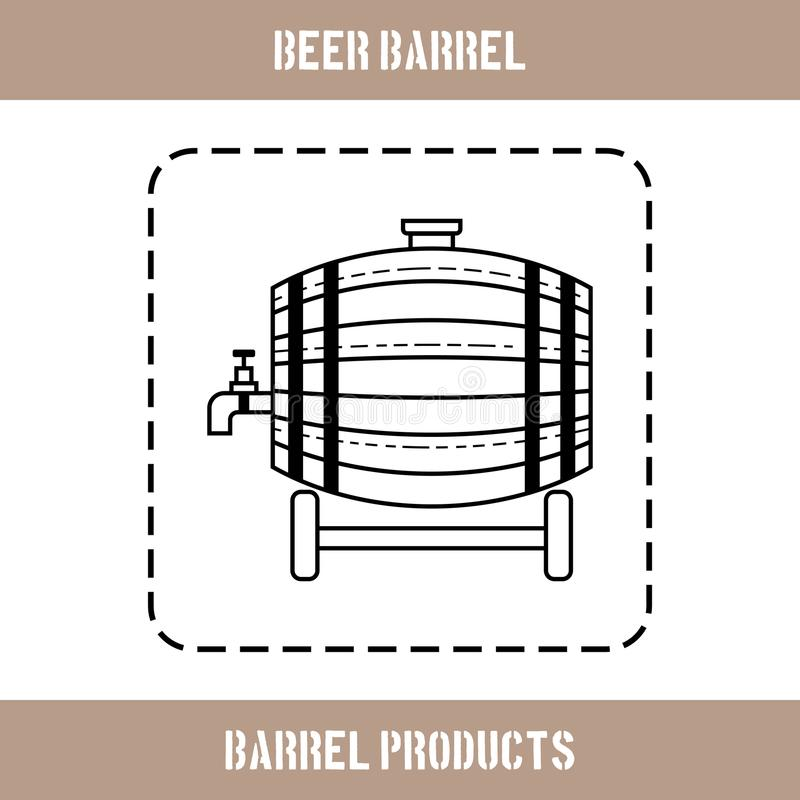 啤酒、水和饮料的木桶 站点的平的象,事务 也corel凹道例证向量 库存例证