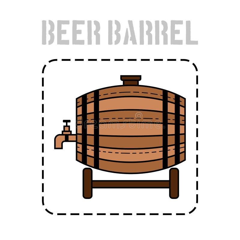 啤酒、水和饮料的木桶 站点的平的象,事务 也corel凹道例证向量 向量例证