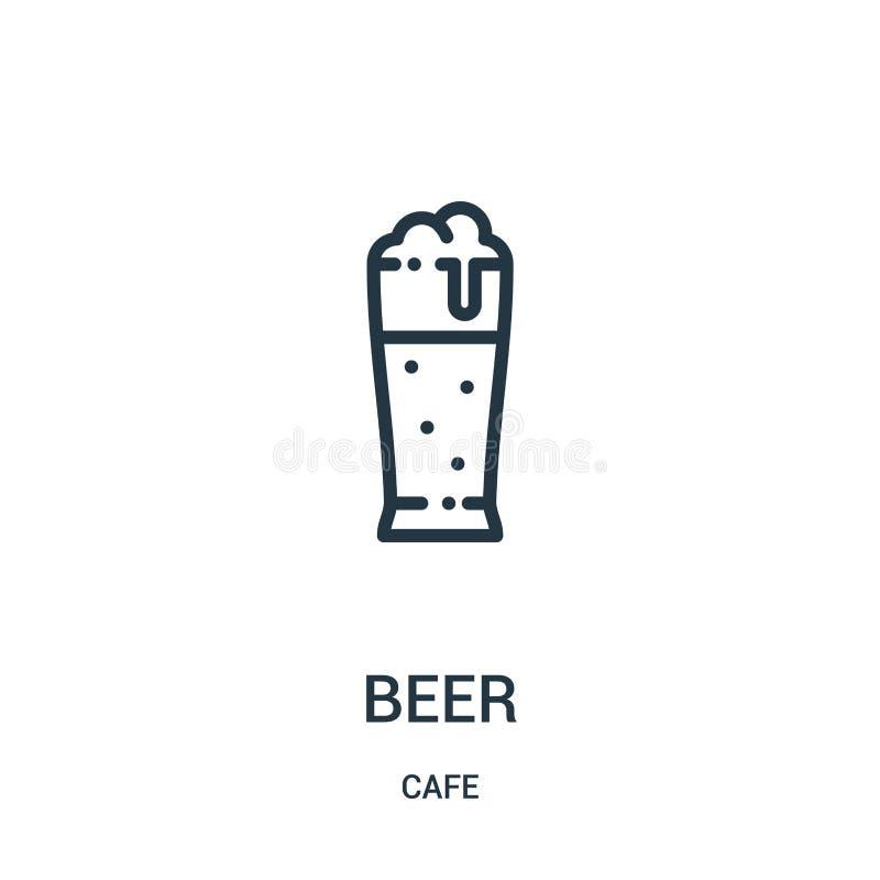 啤酒从咖啡馆汇集的象传染媒介 稀薄的线啤酒概述象传染媒介例证 r 向量例证