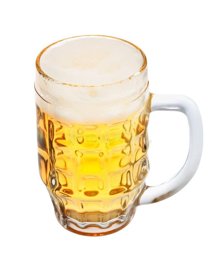啤酒剪报杯子路径 免版税库存照片