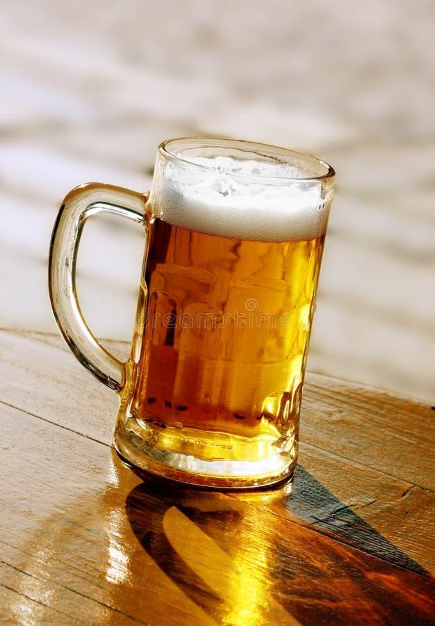 啤酒反映影子 库存图片