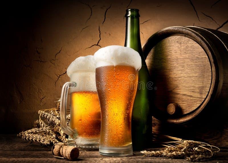 啤酒在啤酒厂 库存照片