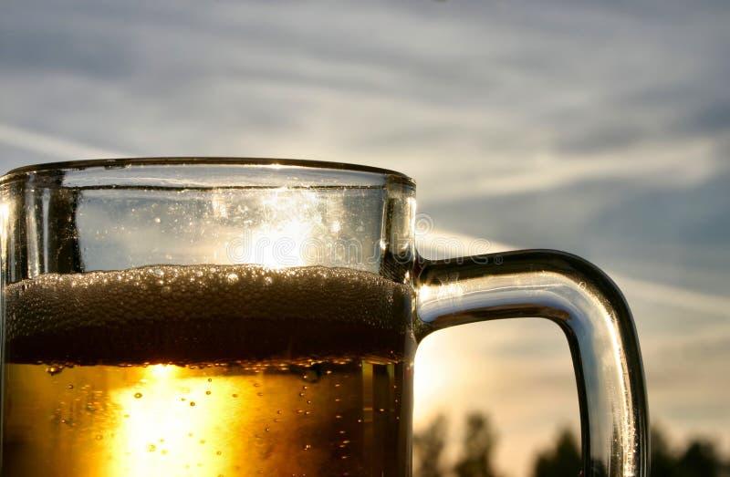 啤酒天空 库存图片
