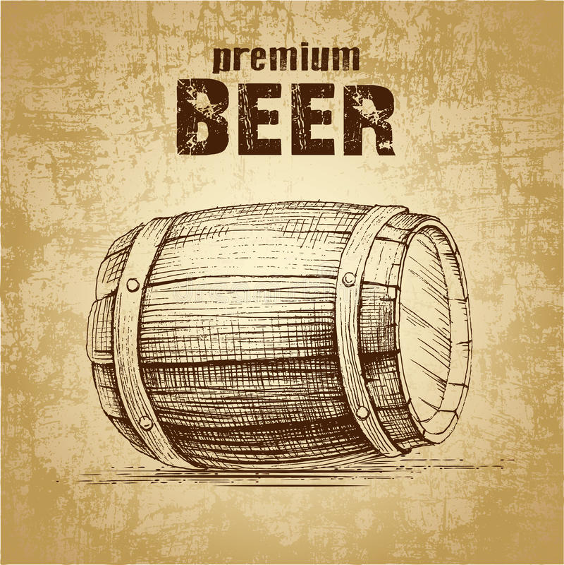啤酒小桶与 皇族释放例证