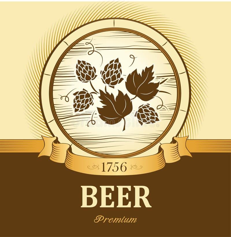 啤酒小桶用蛇麻草 皇族释放例证
