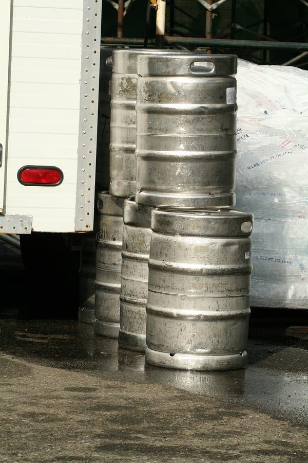 啤酒小桶 免版税图库摄影