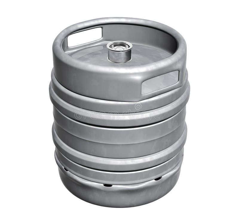 啤酒小桶 皇族释放例证