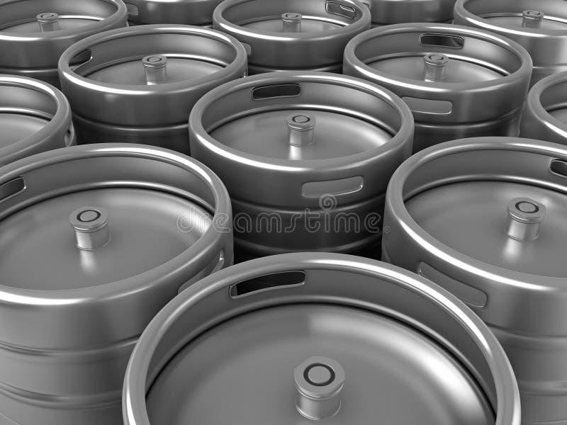 啤酒小桶 向量例证