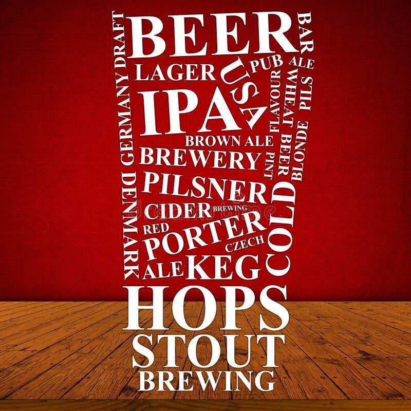 啤酒广告 图库摄影