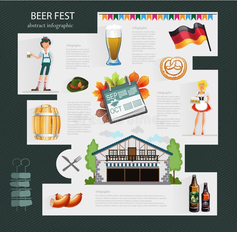 啤酒庆祝 向量例证