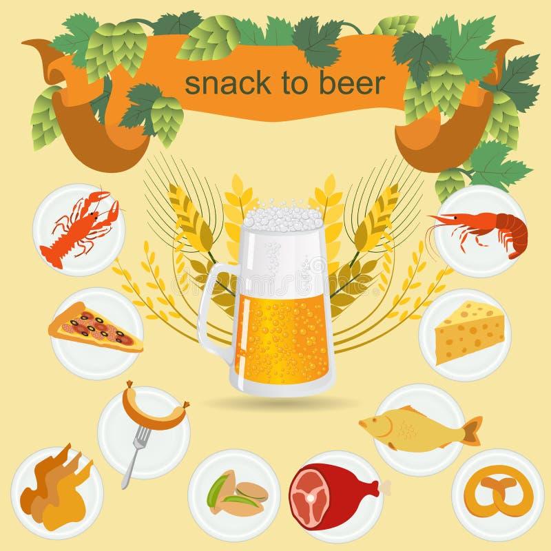啤酒快餐infographics,设置了元素,创造的您自己  向量例证