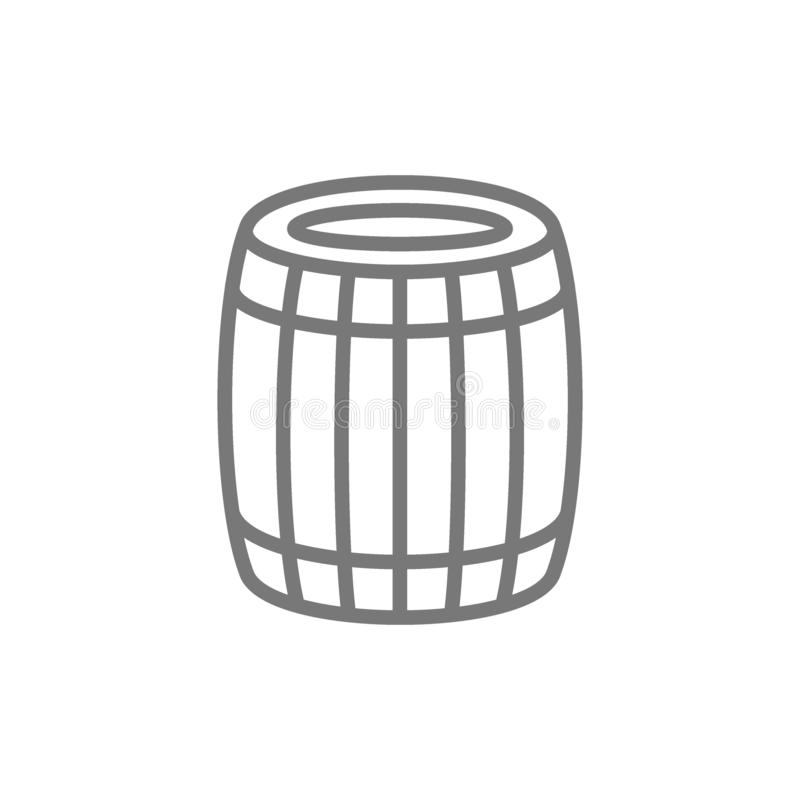 啤酒或葡萄酒桶线象 皇族释放例证