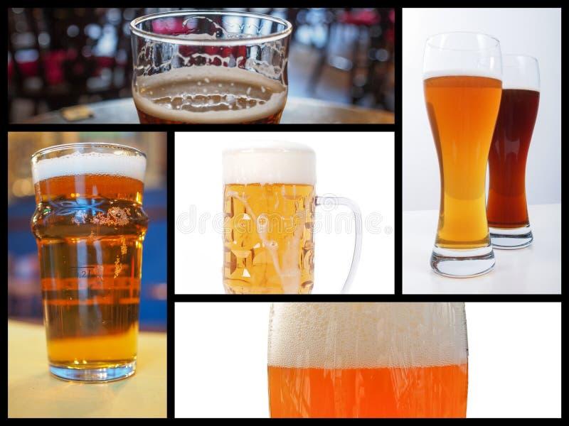 啤酒拼贴画 库存照片