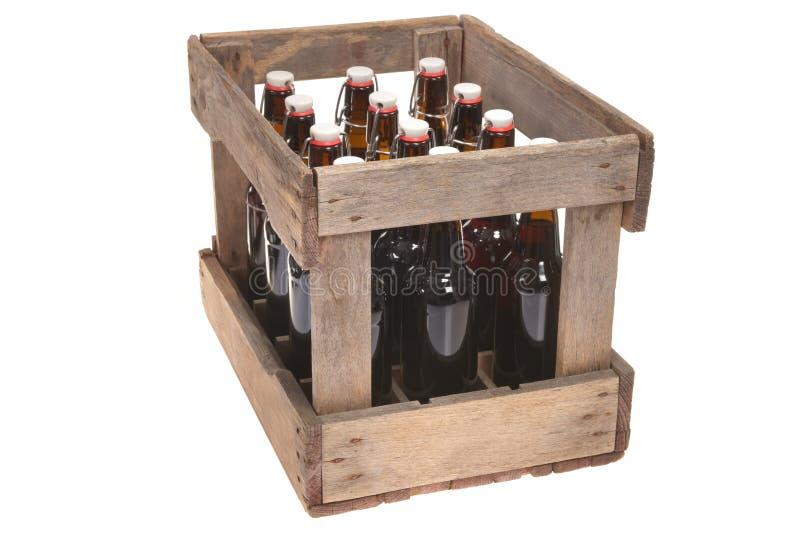 啤酒条板箱 库存照片