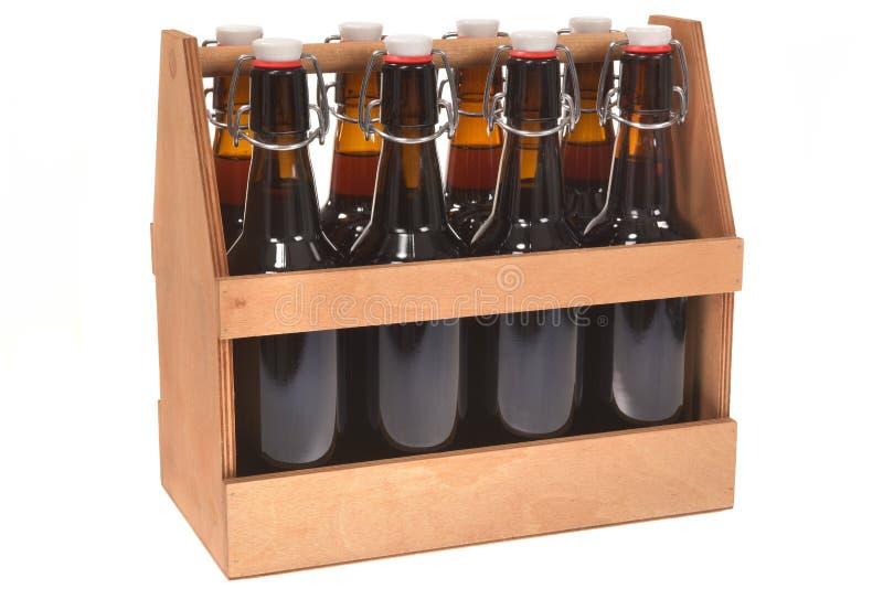啤酒条板箱 免版税库存图片